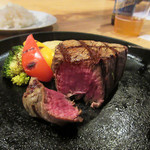 chez 瑠万 - 放牧牛ステーキ ヒレ150g2500円(2017/3月)