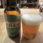 chez 瑠万 - 京都麦酒800円(2017/3月)