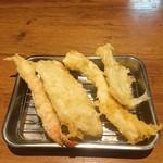 天ぷらの山 - 料理写真:海老・豚ロース・イカ・キス
