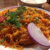 パンジャビ ダバ - 料理写真:ランチのチキンビリヤニ 980円 ライタ付き 余ったら持ち帰りOKでした。