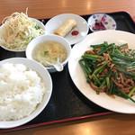 台湾料理 味家和 - 料理写真:豚肉とニンニクの芽炒めランチ