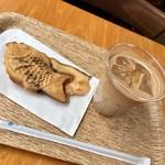 心斎橋焙煎所 - 十勝つぶあん、Cafe Latte (Ice) Short