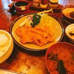 松村 - オイル定食¥1250大盛¥100高いけど美味しいからOK❗( ☆∀☆)