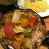 野菜を食べるカレーcamp - 料理写真:1日分の野菜カレー+手羽煮込トッピング