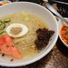 肉の米内 - 料理写真:冷麺 辛み別でした 甘辛いカルビが入ると旨みが増しますね♪