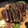 明神丸 - 料理写真:鰹たたき塩。鰹の美味しさをめいいっぱい感じられます。