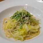 リストランテ ラ チャウ - シラスと春キャベツとからすみのスパゲッティ