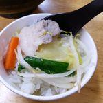 66864837 - タンメン(大盛)800円、野菜大盛(無料)、ライス(11:00-15:00無料)