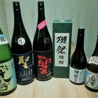 ポッピラーな日本酒から、季節限定の隠し酒!焼酎なども・・・