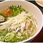柳麺 呉田 - 料理写真:梅塩らーめん 920円 和テイストなラーメン…アリです♪