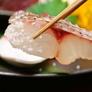 【京都祇園料亭御用達】塩で食べる日本海の天然鮮魚