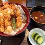 天ぷら ひさご - 春の海老祭り天丼1520円