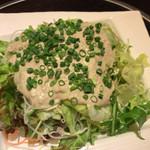彩 - 角ちゃんの気まぐれセット(1,600円) カニ味噌サラダ。カニ味噌ソースが美味すぎで、野菜がどんどん食えます。