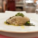 ペレグリーノ - 廿日市産牡蠣のソットオーリオ小松菜とサルサヴェルデ添え
