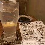 天ぷらと泡 ぱちぱち - レモンチューハイ(開店記念で一杯88円で頂きました)
