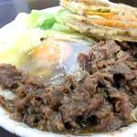手打ちうどん なべ - 料理写真:肉天玉580円