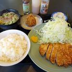 とんかつ太郎 - 八重山そばセット+揚げシューマイ