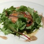67024981 - 新潟魚沼産八色椎茸をタルト仕立てに ラルドの薄いベールで覆って