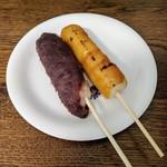 明石屋菓子店 - 料理写真:あずきだんご・やきだんご