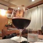 洋食キムラ - グラスワイン赤1,000円