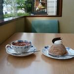 ボノボノ - 料理写真:紅茶&モンブラン