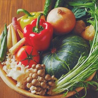 栄養たっぷり!新鮮な国産、旬のお野菜をお楽しみいただけます