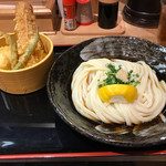 釜たけ流うどん 駅前食堂 - ちく玉天ぶっかけ     ¥780