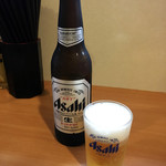 Butaboshi - ドリンク写真:ビール小 ¥400  土曜10時半に並んだところ、一巡目で座れました。