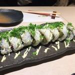 和膳と酒肴 廚 - ロール寿司~車海老天プラとアボカド~