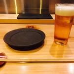 六本木 きわみ鶏 - ひとまず生ビールで開幕!