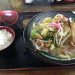 隈屋 - 料理写真:ちゃんめん定食=730円