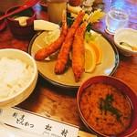 松村 - エビフライ定食¥1250ご飯大盛¥100o(^o^)o