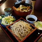 瀧乃家 - 天丼セット(もり蕎麦 付)