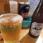 屋台安兵衛 - 瓶ビール500円