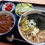 めん処ちどり - ミニカレーセット・うどん(500円)