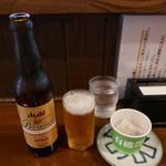 二代目 にゃがにゃが亭 - ドリンク写真:ビールはアサヒプレミアム