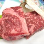 雨情の宿 新つた - <夕食>福島牛のステーキ