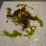 Arashida - ホタルイカと春キャベツのモホソース和え
