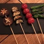 こめの家 - 夏野菜の串焼き