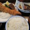 ダイニングステージ 佐海屋 - 料理写真:海老フライ鯖煮つけ定食