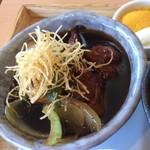 ゆるり 中華食堂 癒食同源 - 豚肉と根菜の黒酢酢豚