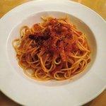 ルーチェ - ユーロの台所ルーチェ@西葛西 ベーコンとトマトのスパゲッティ