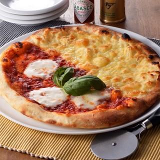 ●炭リッチのピザ&パスタ●道産チーズ、道産小麦を使用♪