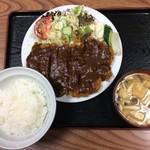 春野屋食堂 - 料理写真:洋風カツ丼(デミグラスソース、ライス少なめ)¥950