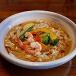 うどんちゅう - 料理写真:海老のチリクリームうどん