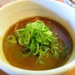 麺屋 高橋 - つけ汁のアップ