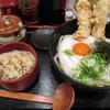 うどん和匠 - 料理写真:鶏天とろ玉ぶっかけ定食