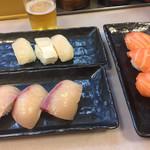 大興寿司 - サーモン ハマチ 貝柱