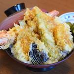漁亭 浜や - 料理写真:特上天丼 1,580円