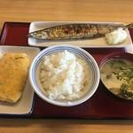 和歌山小豆島食堂 - 料理写真:秋刀魚 卵焼き ご飯 味噌汁